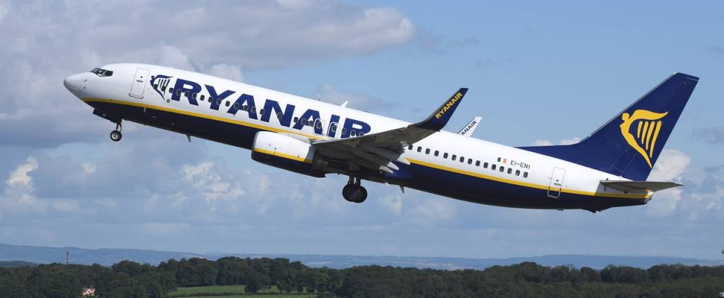 Ryanair Aircraft During Take Off