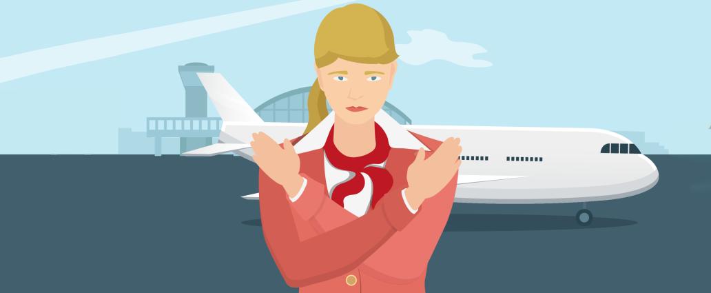 7 речей, які не можна робити в літаку