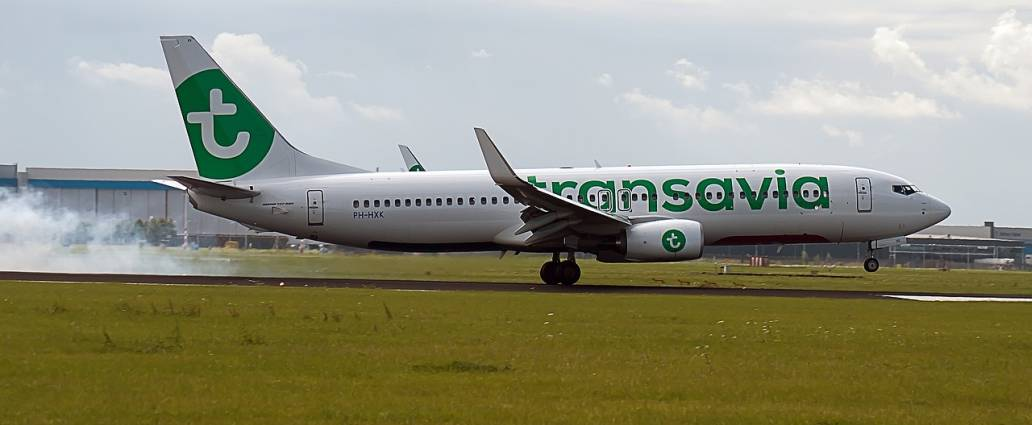 Transavia Aircraft During Touchdown